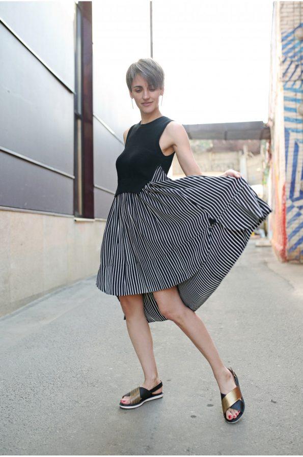 Платье в полоску с трикотажным верхом Beatrice B