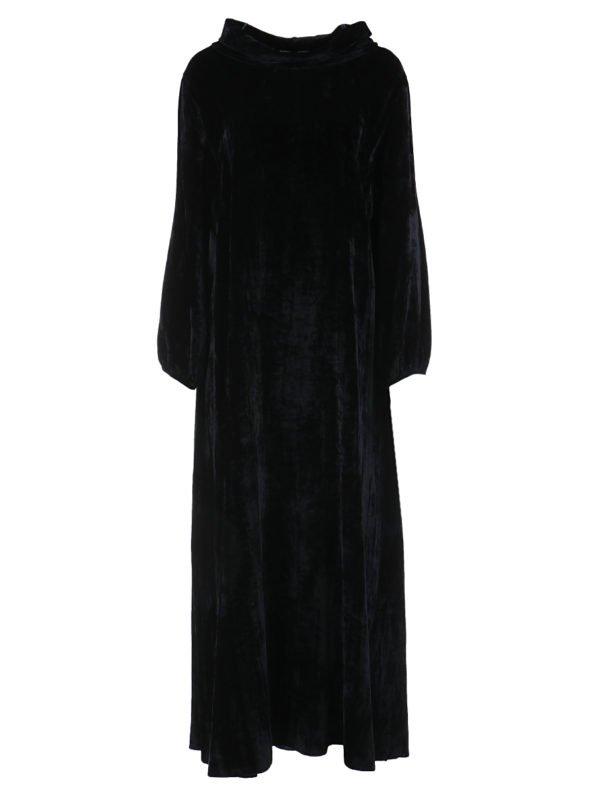 Платье с хомутом бархатное