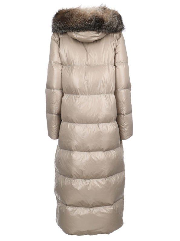 Пальто-пуховик с капюшоном