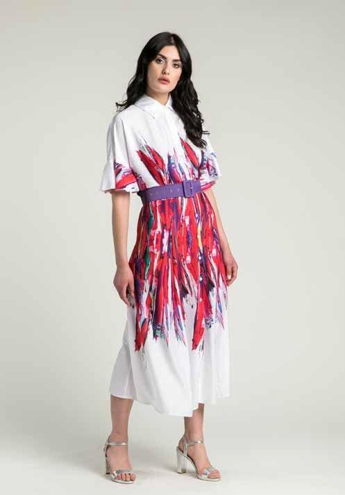 Платье рубашечного покроя с отрезной талей