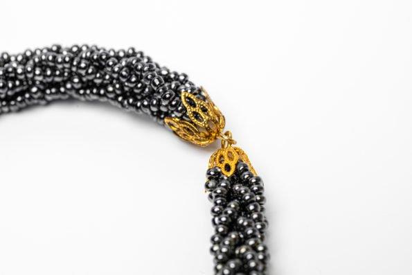 Колье-галстук плетенный жгут