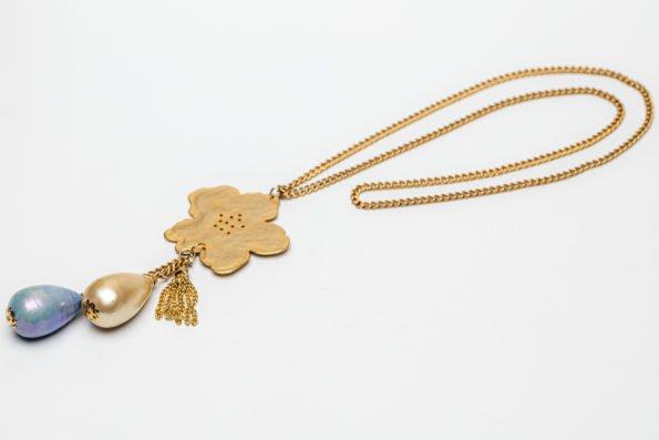 Колье - золотой цветок