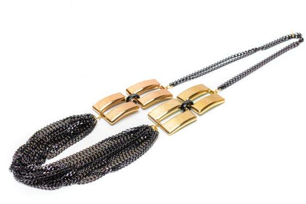 Ожерелье - черная цепь