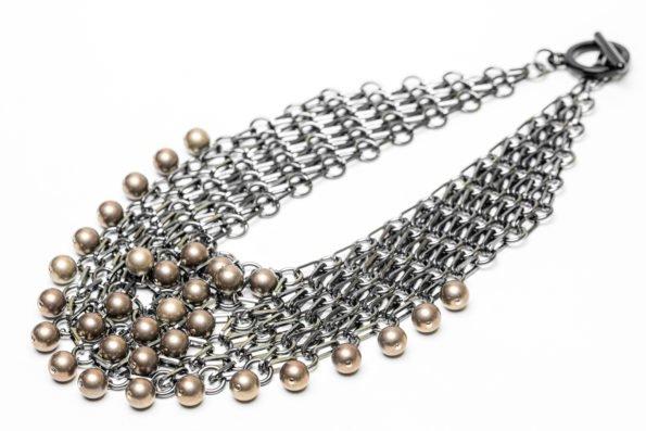 Ожерелье кольчужное плетение