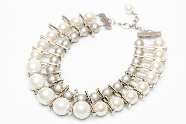 Ожерелье серебряный жемчуг, в стиле Chanel