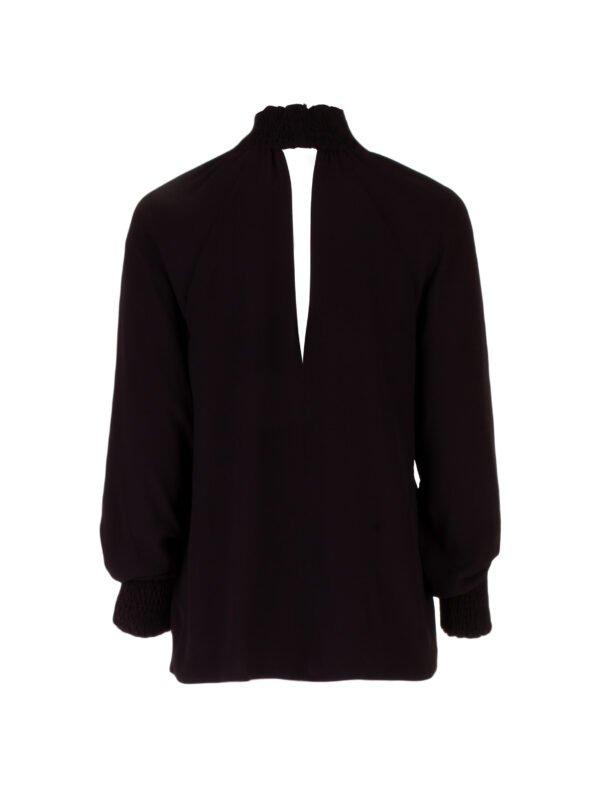 Блуза с манжетом на резинке