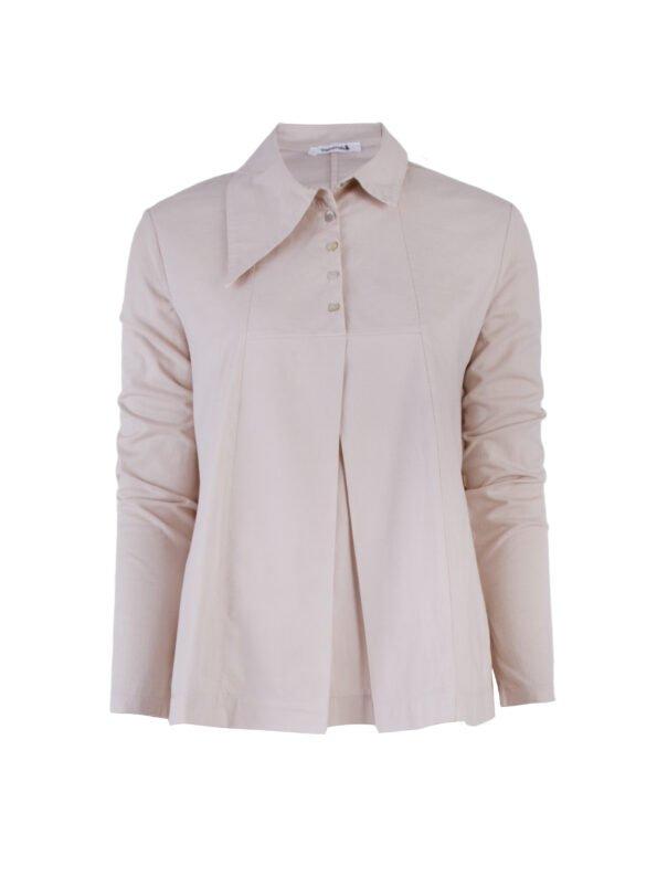 Блуза с асимметричным воротником