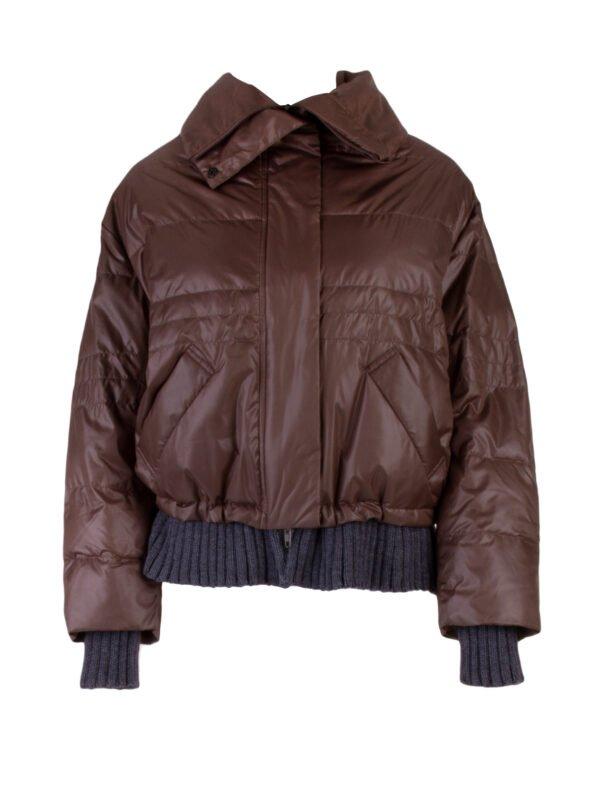 Куртка с трикотажным низом