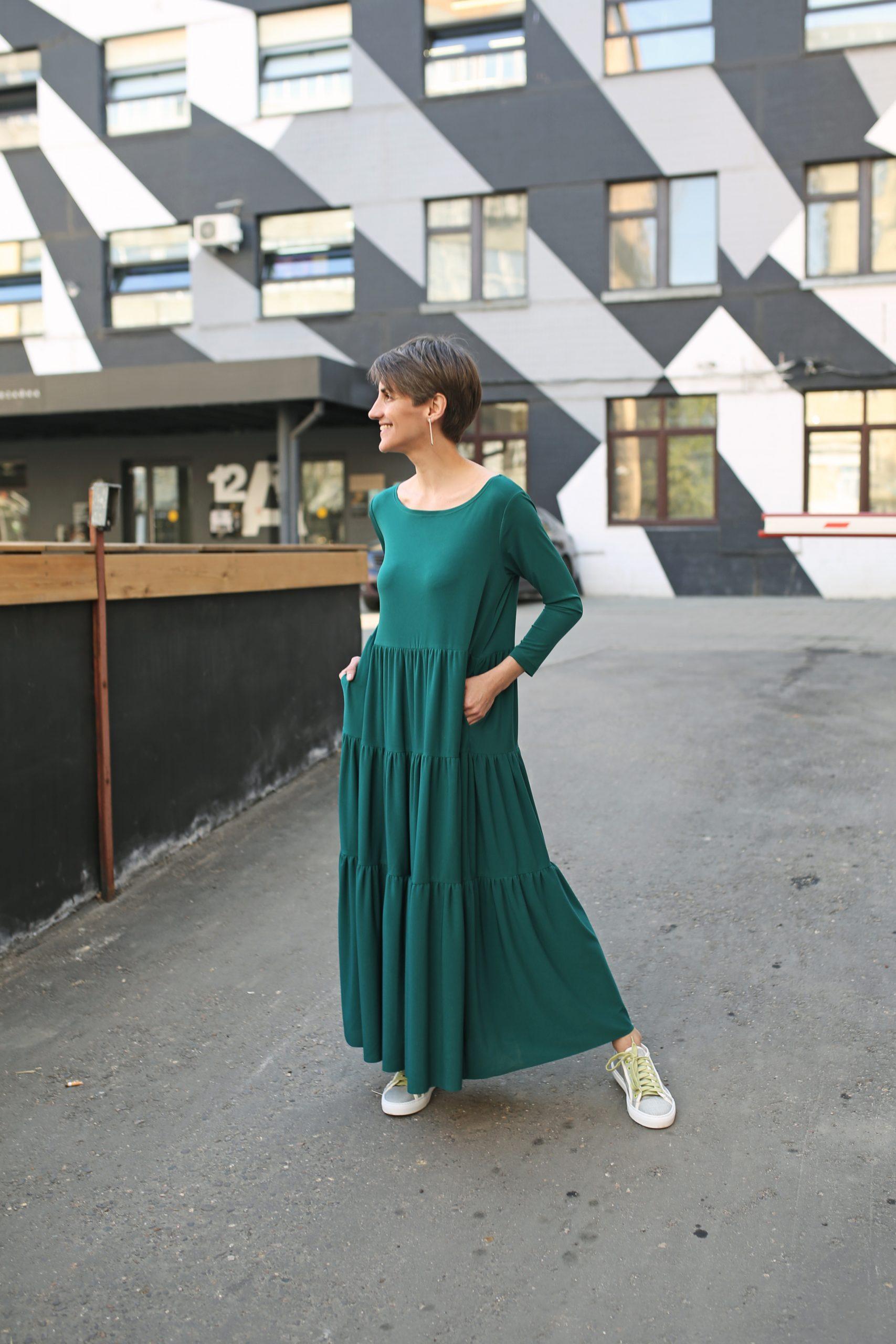 Платье с воланами Chiara b
