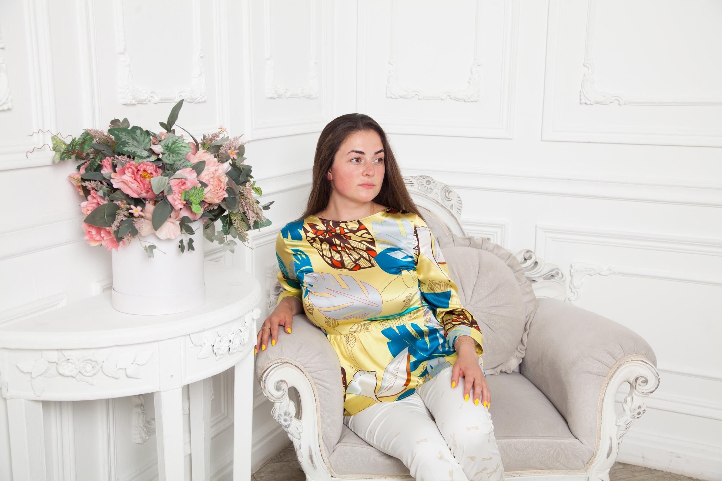Блуза с баской Niu